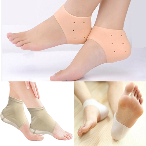 발 뒤꿈치패드1+1각질제거 보습 통증완화 발뒤꿈치 보호패드, 살색2세트