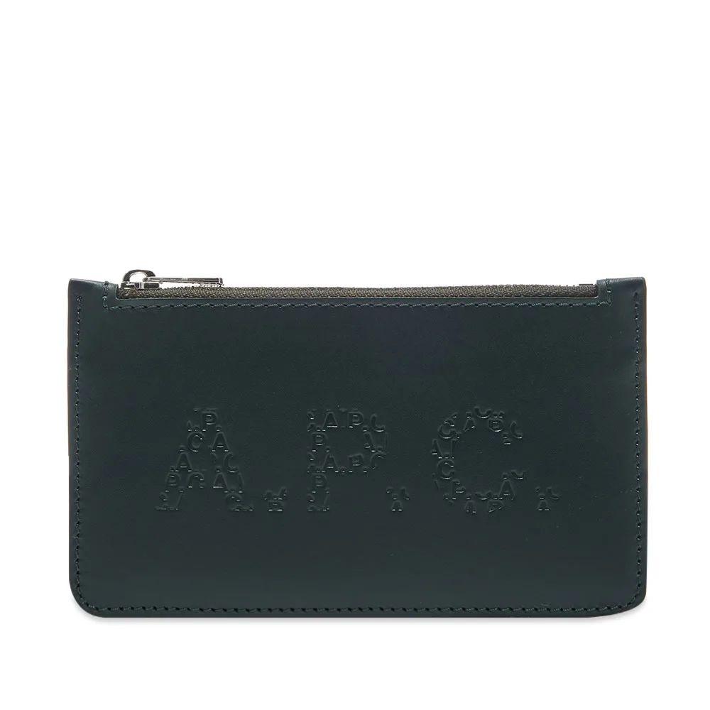 [해외직배송] A.P.C. Walter Logo Leather Card WalletA.P.C. 월터 로고 가죽 카드 지갑