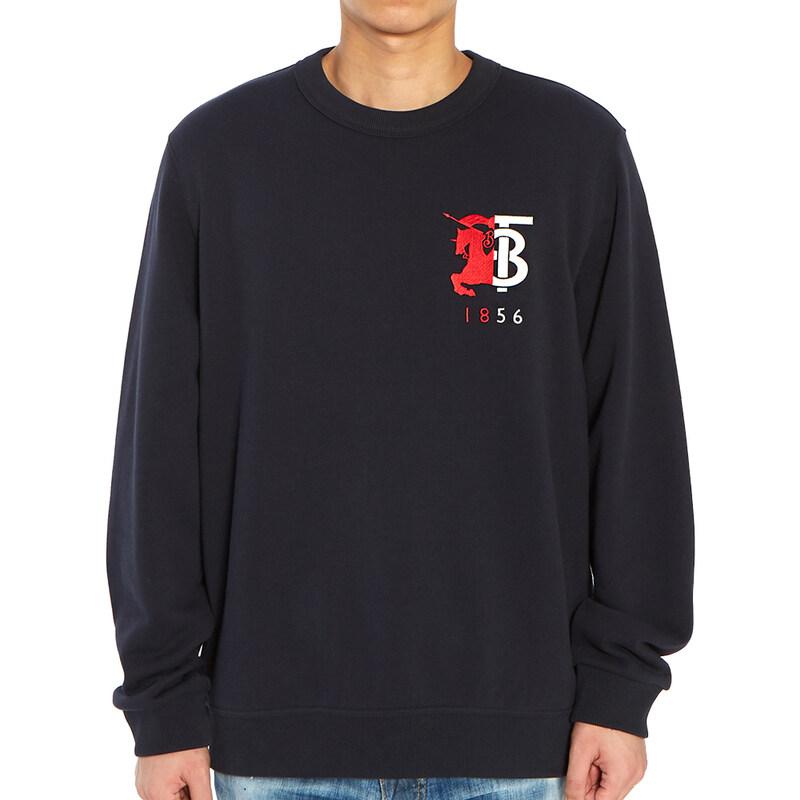 [Burberry]컨트라스트 로고 그래픽 MUNSTONE 8022310 A1222 남자 긴팔 맨투맨 티셔츠