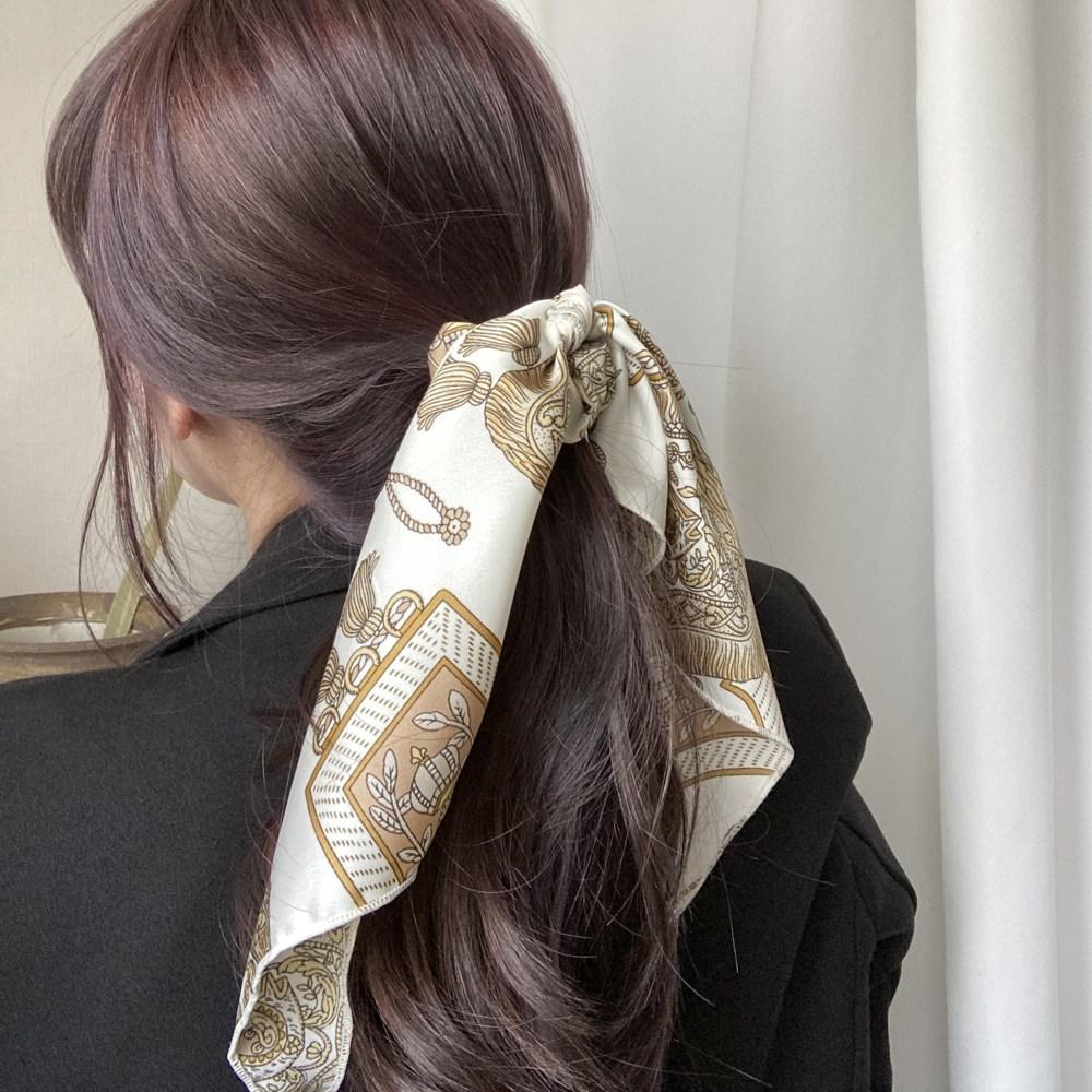 자체제작 여신 스카프 곱창머리끈 헤어끈