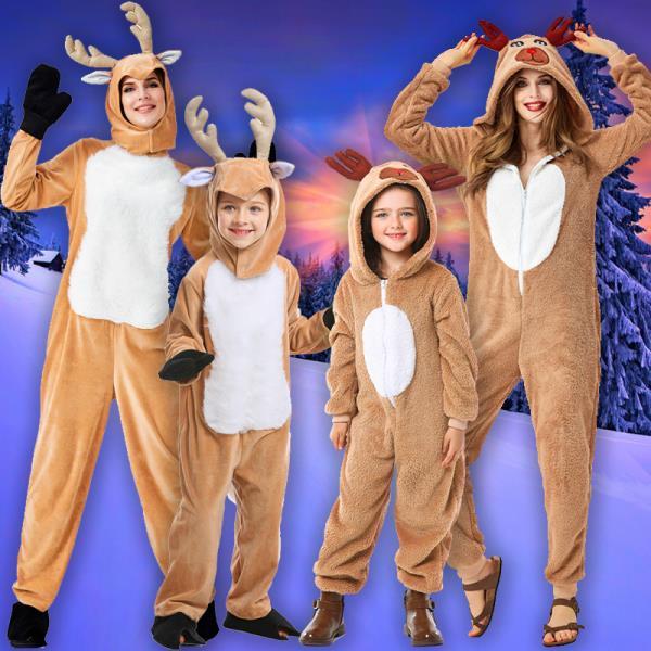 크리스마스 의상 성인 어린이 의류 귀여운 순록 동물 의상 크리스마스옷