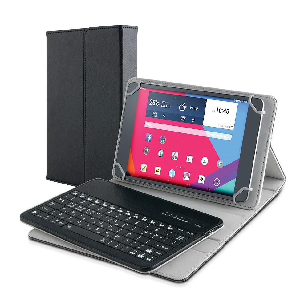 코시 7인치 8인치 블루투스 태블릿PC 케이스키보드 9인치 10인치 무선키보드, 블랙, 7형 8형 블루투스 케이스키보드