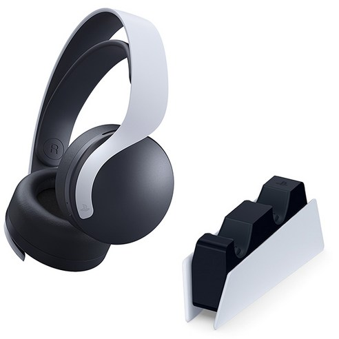 PS5 듀얼센스 충전거치대+펄스 무선 헤드셋 /소니정품, 소니정품