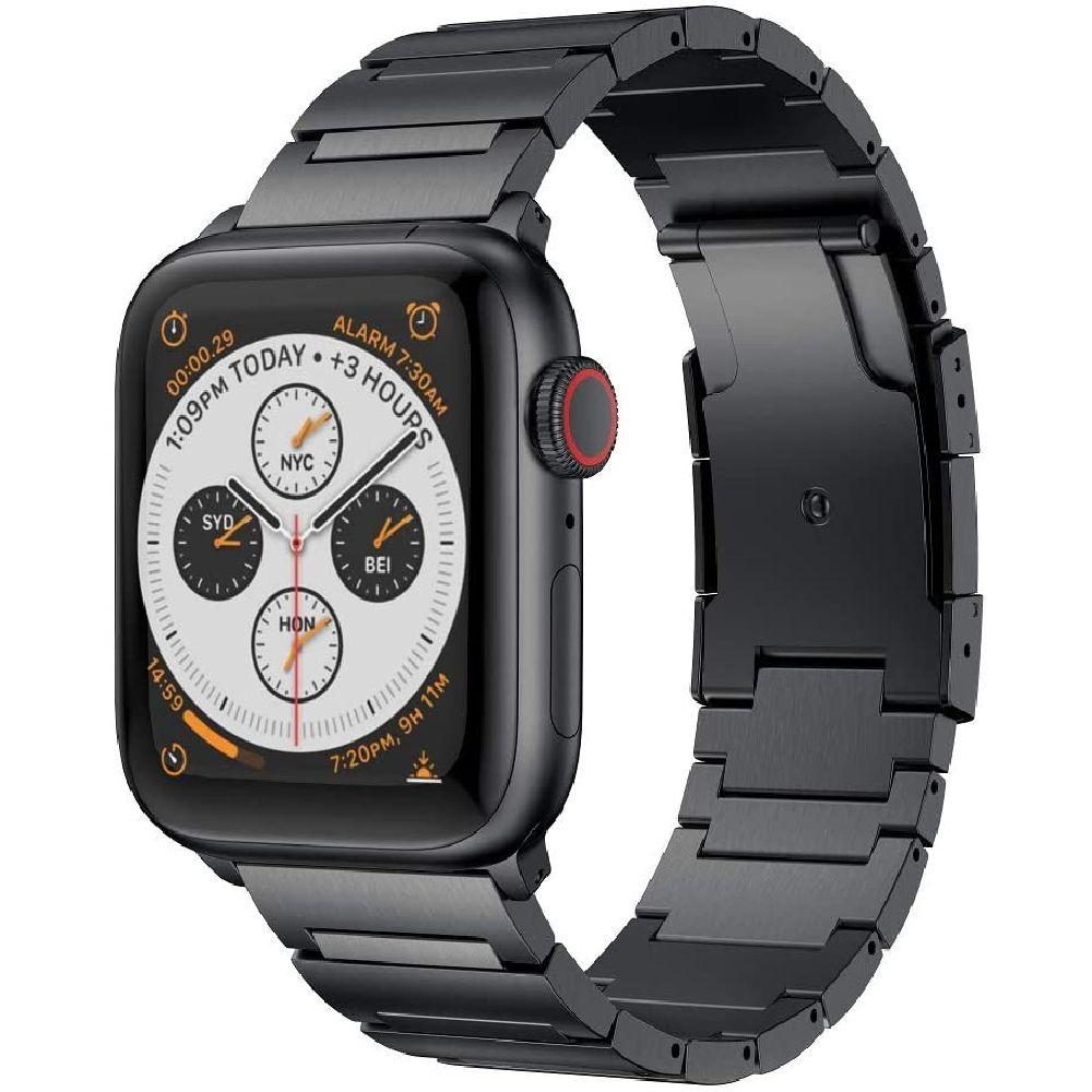 RABUZI 애플 시계 시리즈 5 4 3 2 1 Smartwatch 호환 애플 시계 밴드 44mm 42mm 스테인레스 스틸