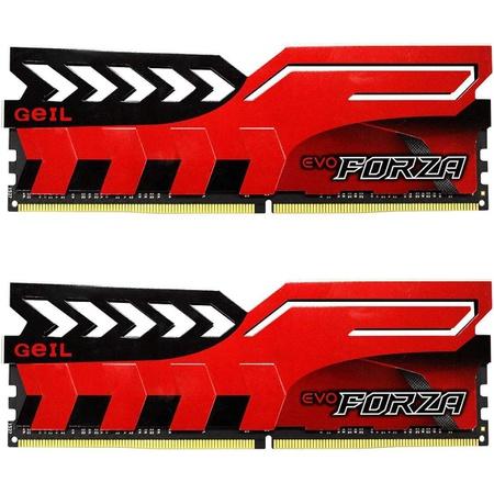 GeIL 16GB (2 x 8GB) EVO FORZA DC DDR4 PC4-21330 2666MHz Desktop Memory Model GFR416GB2666C16ADC PROD, 상세 설명 참조0
