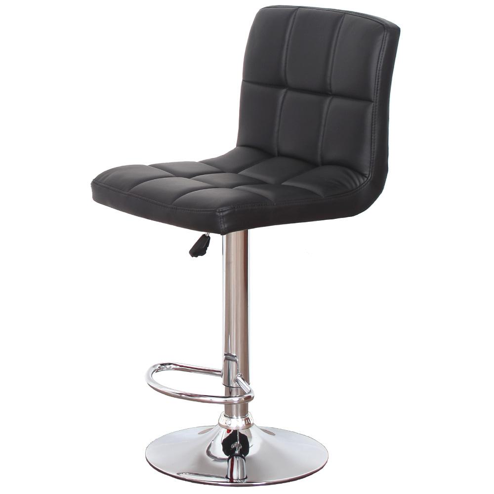 베스트렉 더블쿠션 아일랜드 발걸이형 홈바의자, 블랙-4-3700125
