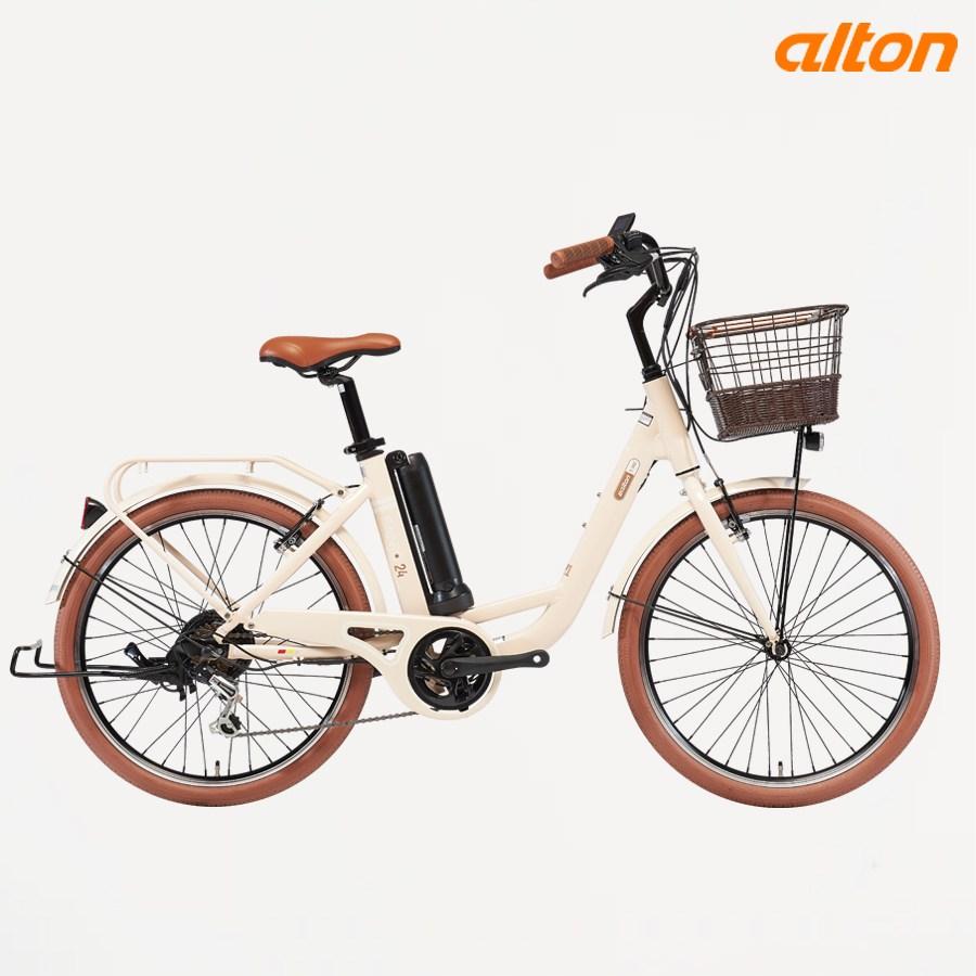 2021년 알톤 벤조24 24인치 전기자전거 파스스로틀겸용, 70%반조립(대리점셋팅요망)+무료배송, 베이지 (POP 5096431585)
