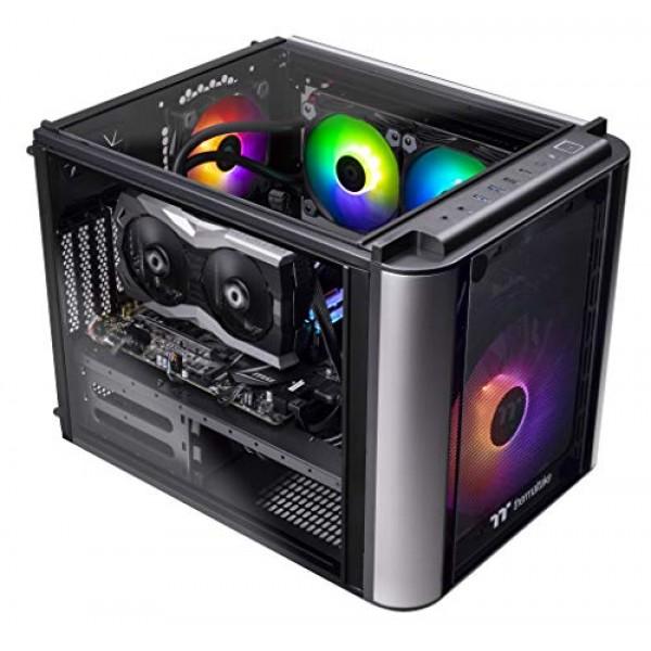 Thermaltake 레벨 20 AVT-01 폐 루프 수냉식 CPU 게임용 PC Intel i5-9600k 3.7GHz TOUGHRAM RG, 단일상품, 단일상품