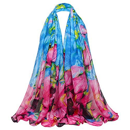 Kingree 여성용 Stole 가을 Winter Scarf Warm Muffler Neckerchief for 여성용 and Girls Lb21-blueRose