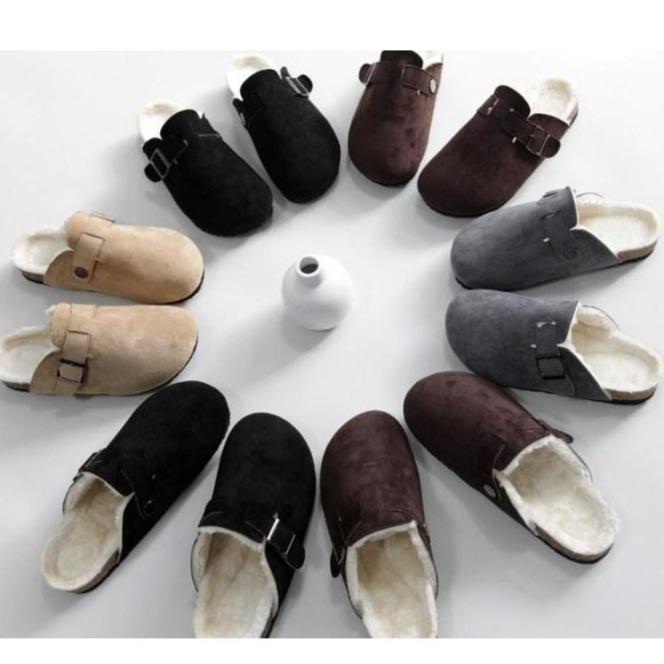 버캔 털 슬리퍼/버캔 털 신/버캔 털 신발