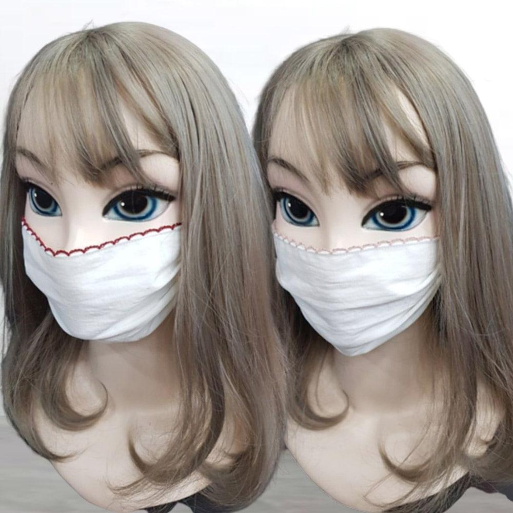 중형 대형 편한 일회용 다회용 영구 잠잘때 삼차원 대량구매 끈 보통 면 컬러 마스크, 소라