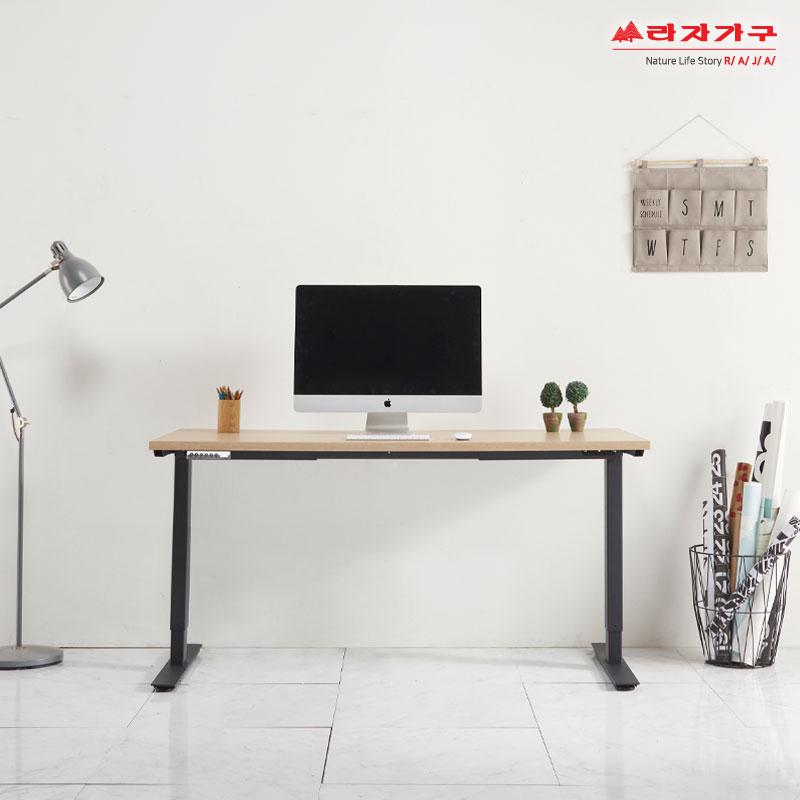라자가구 위드 1200 전자동 모션데스크 jy080 전동책상, 블랙+오크