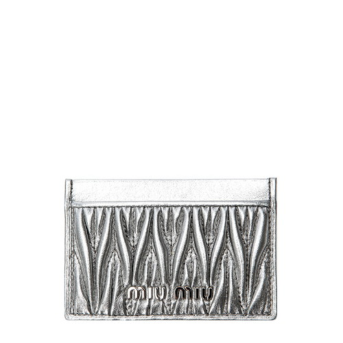 [미우미우] (5MC208 N88 CROMO) 여성 카드지갑 20SS