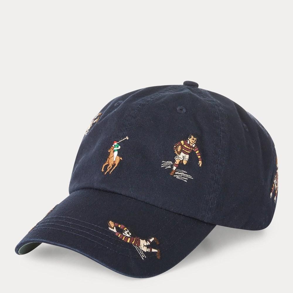 폴로 Polo 랄프로렌 럭비 플레이어 스포츠 캡 모자 볼캡 에비에이터 네이비 W