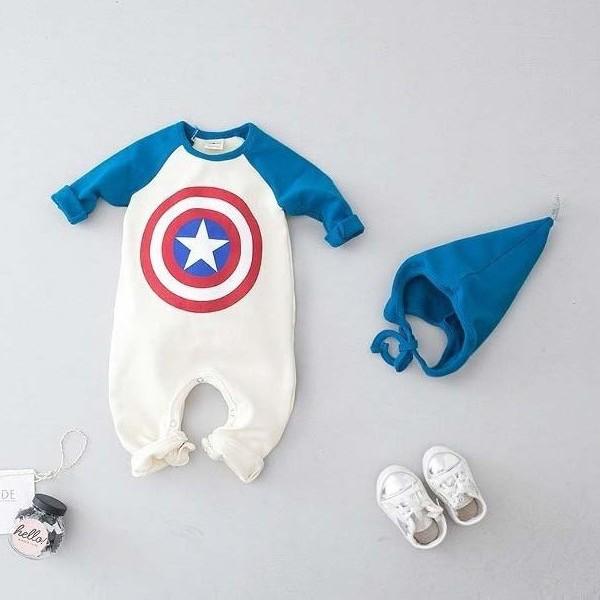 쿠잉키즈 봄아기옷 신생아외출복 아기우주복 슈퍼나그랑슈트(모자세트)