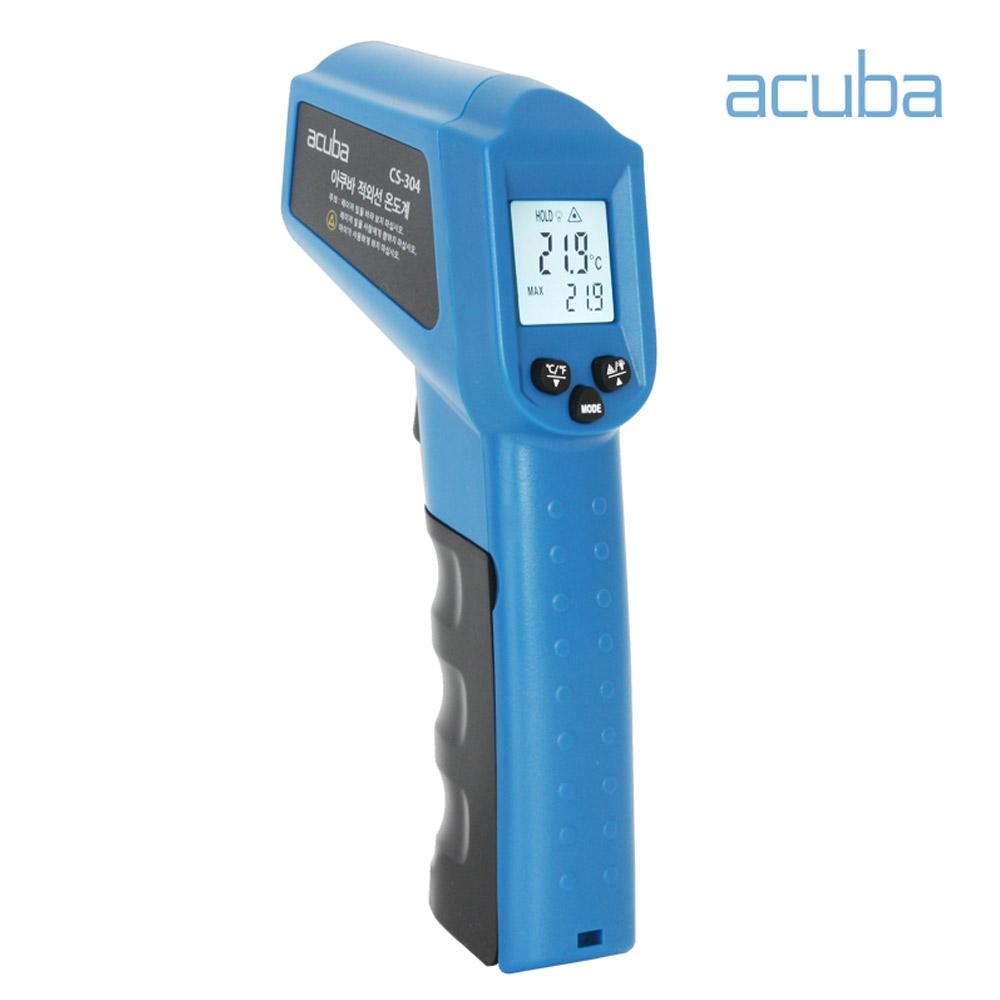 아쿠바 산업용 적외선 온도계 비접촉식 온도측정기 CS-304 방사율설정, 1개