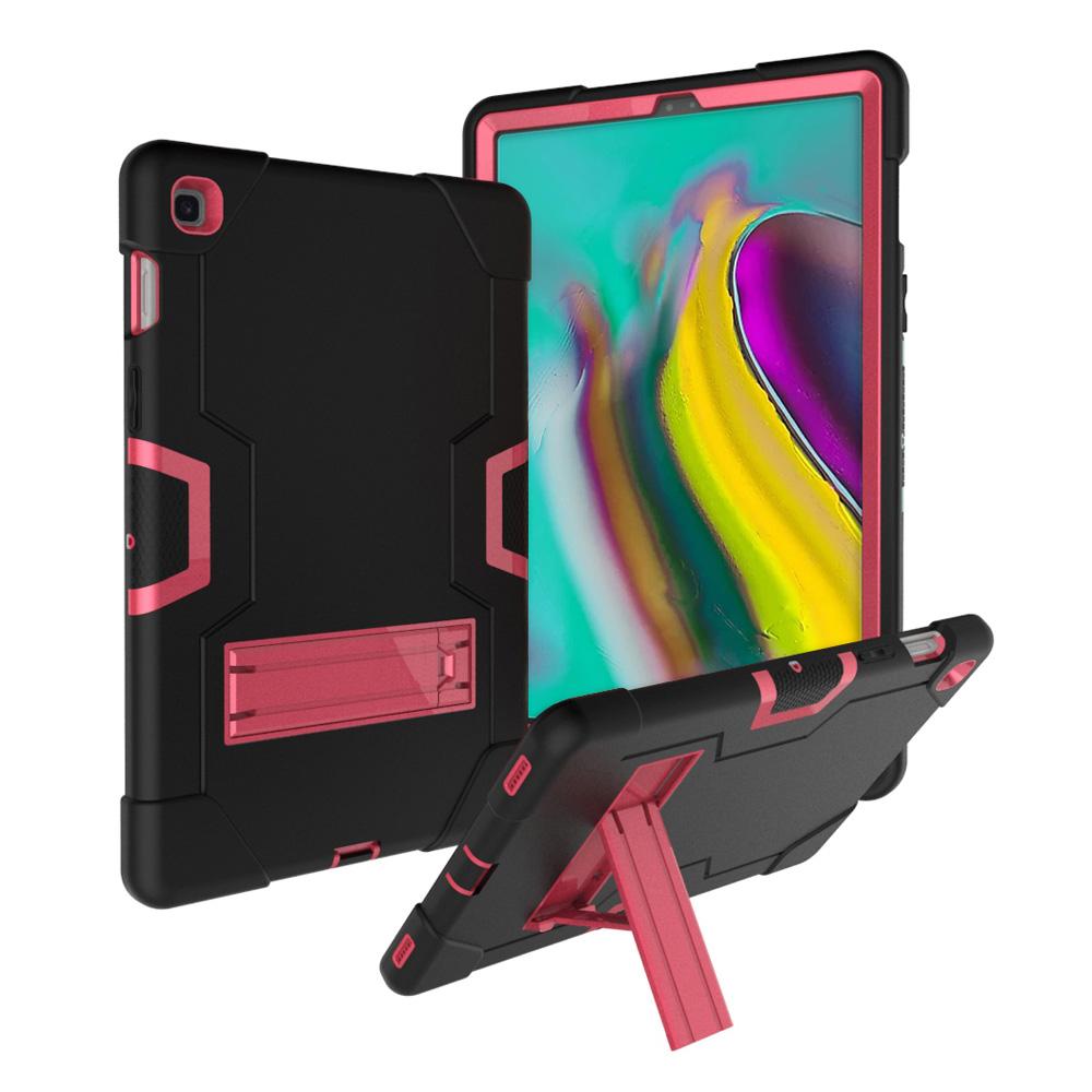 갤럭시탭S5e 10.5 sm-t720 tu-23 와일드범퍼 케이스, 블랙+핑크