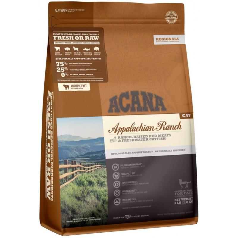 ACANA 지역대회 드라이캣 푸드 애팔래치아 목장 생물학적으로 적절하고 양곡 무료, 1, 단일옵션