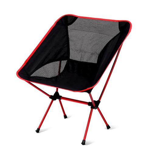 캘리웨이브 캠핑의자 초경량 알루미늄 접이식 미니 롱 릴렉스체어, 1개, 미니레드