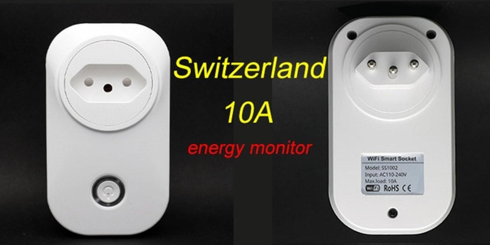 Tuya WIFI 스마트 소켓 스마트 플러그 EU 영국 Swit AU BR FR JP, 협력사, 스마트 라이프 투야, 스위스 플러그 (POP 5587759880)