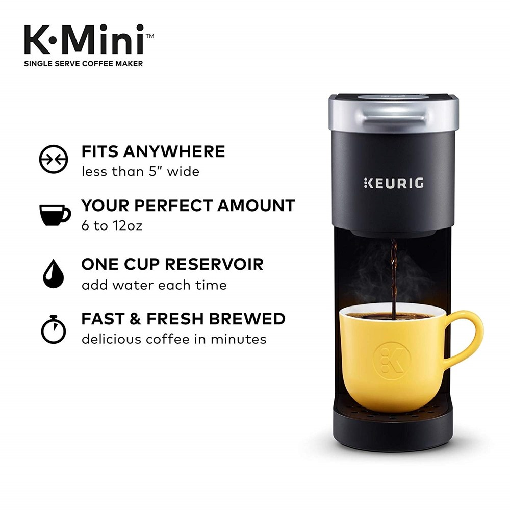 Keurig 큐리그 KMini Single Serve Coffee Maker Black 단일품목