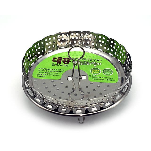 키친라인 스텐찜기 낮은찜판 고리 스티머, 1개, 17.5cmX4.5cm