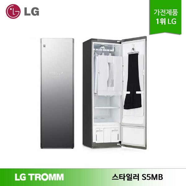 [신세계TV쇼핑][LG] 트롬 스타일러 S5MB 블랙틴트미러 5벌+바지1벌 우측열림, 단일상품