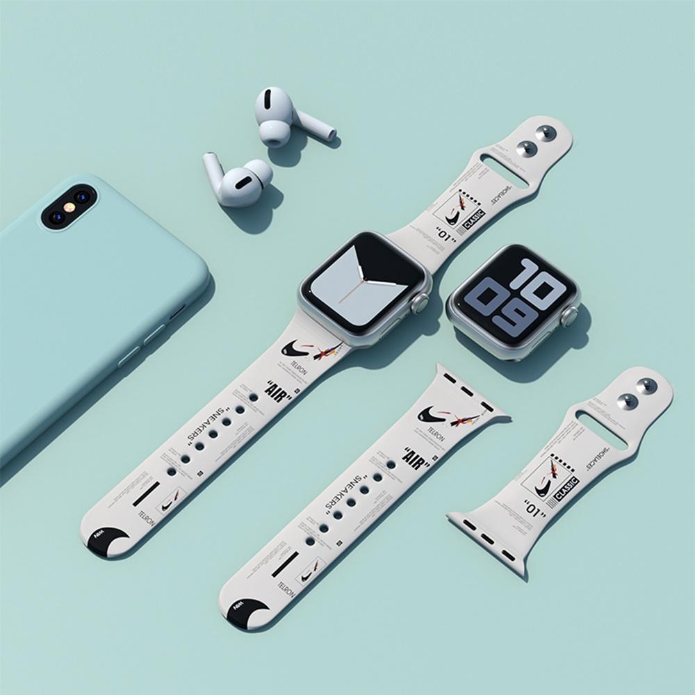 애플워치 3 4 5 6 SE 나이키 솔로 루프 줄 스트랩, 38mm, 데이지