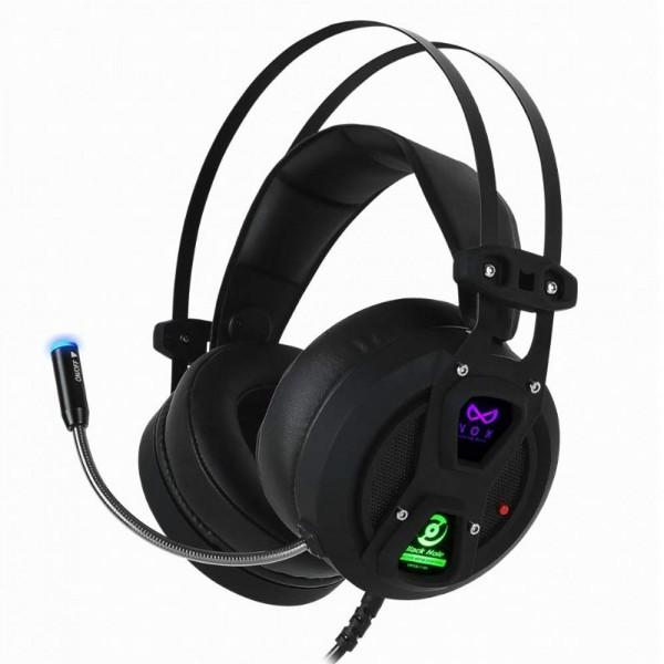 NOX ANC 능동형 소음 취소 컨트롤 게임 헤드셋 USB 포트와 7.1 채널 서라운드 스테레오 편안한 가죽 이어폰 PC를위한 작품 노트