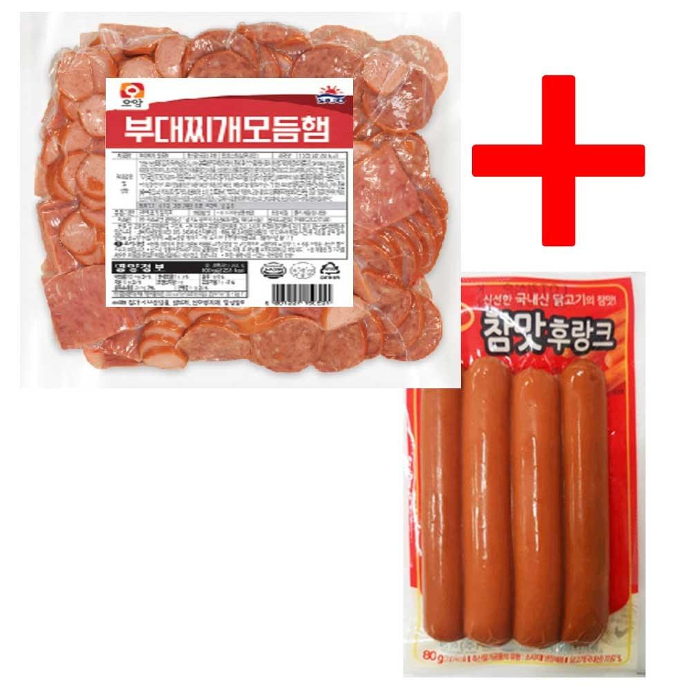 부대찌개 모듬햄 1kg+참맛후랑크 80g, 1080g, 1세트