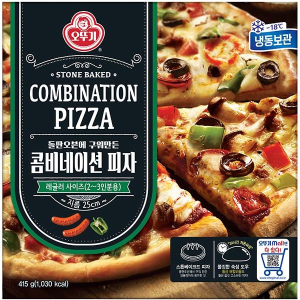 주식회사 오뚜기 콤비네이션 피자 415g 지름25cm (냉동), 2개