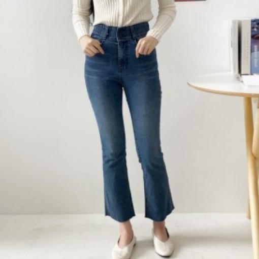 소포라 슬림핏 착용감 허리 6만원대 선물 와이드 히든밴딩 다리가 길어보이는 투버튼스판부츠컷진 E-1406823