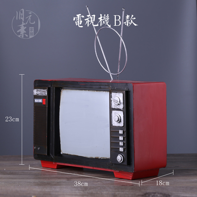 Product Image of the 인테리어 소품 키덜트 미니 빈티지 소형 레트로 TV, 브릭안테나