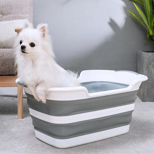 펫올 애견 접이식욕조 강아지목욕통