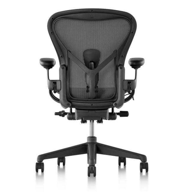 [HERMANMILLER] 허먼 밀러 에어론 Herman Miller Aeron 2세대 인체공학설계 의자, 02  [그래파이트흑+소형+나일론 발]