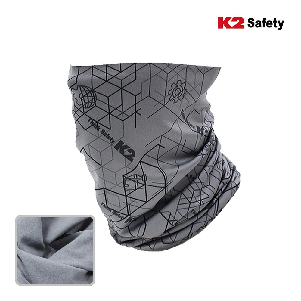 K2 피치기모 멀티스카프 /넥워머/넥게이터/방한용품, 그레이