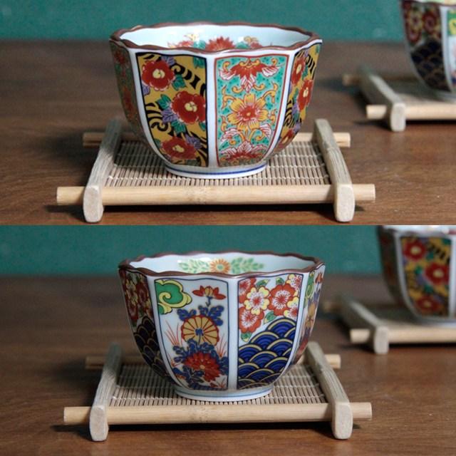 마이리틀홈 아리타 팔각 도자기 찻잔 일본찻잔 물컵, 매화