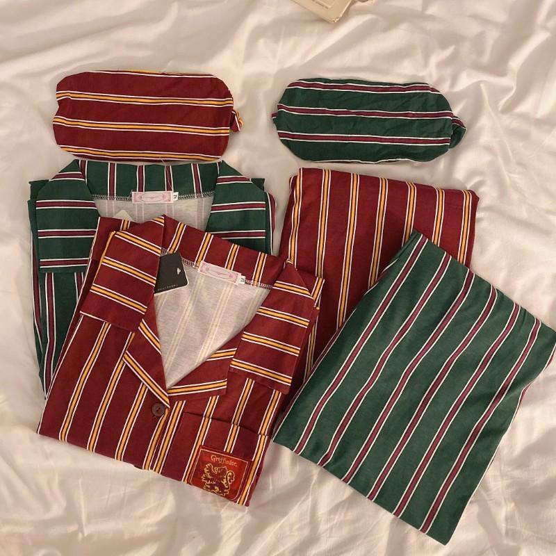해리포터잠옷 파자마파티 신혼부부 가족 여름 겨울 우정 집에서 입는 옷 학생용 성인용 잠옷