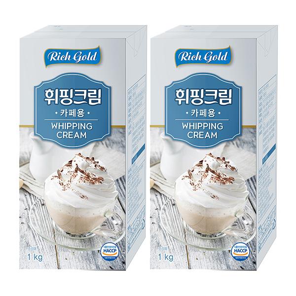 동서 리치골드 휘핑크림 1L 2개세트