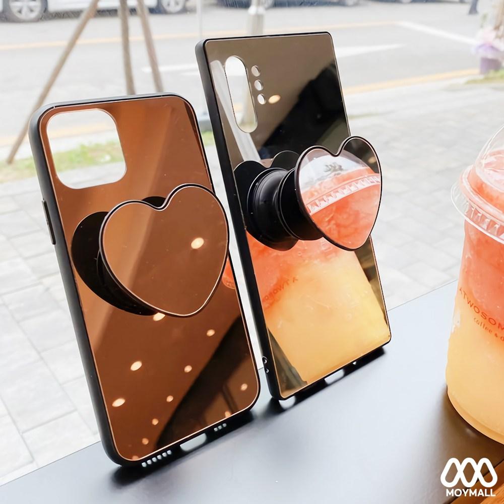 마모르 [사은품] 삼성 갤럭시 전기종 갤럭시S20 갤럭시S20플러스 S20울트라 노트10 노트10플러스 노트9 S10 5G S10플러스 n971 n976 g981 g988 미러 거울 핸드폰 거치대 하트 그립톡 세트 예쁜 귀여운 슬림 실리콘 범퍼 커플 폰 휴대폰 케이스