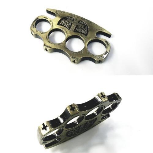 자체브랜드 12cm 강력 너클 합금소재 호신용품 신체보호 운동 경호 동컬러