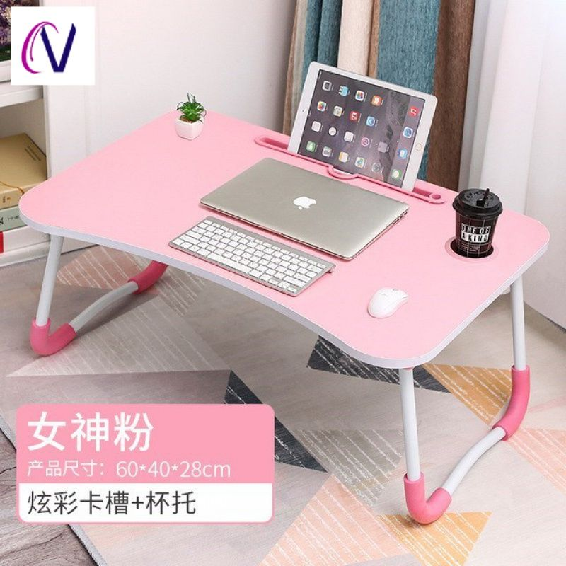 침대책상 침대용작은탁자 접이식 승강가능 높이올리는 침대용책상 컴퓨터책상 높힐수있는테이블 기숙사 침대위, T01-핑크