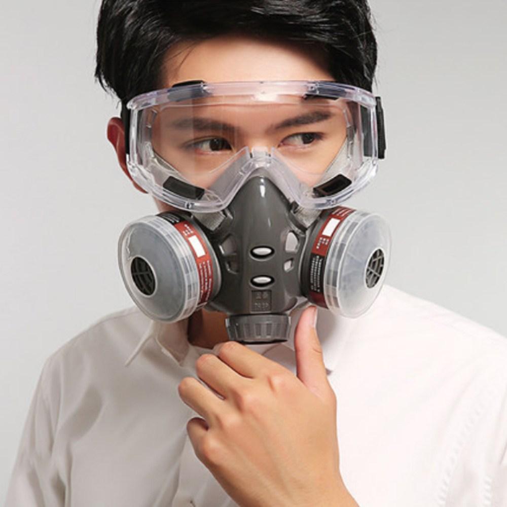 아답션 자체 필터 방진 방독 마스크