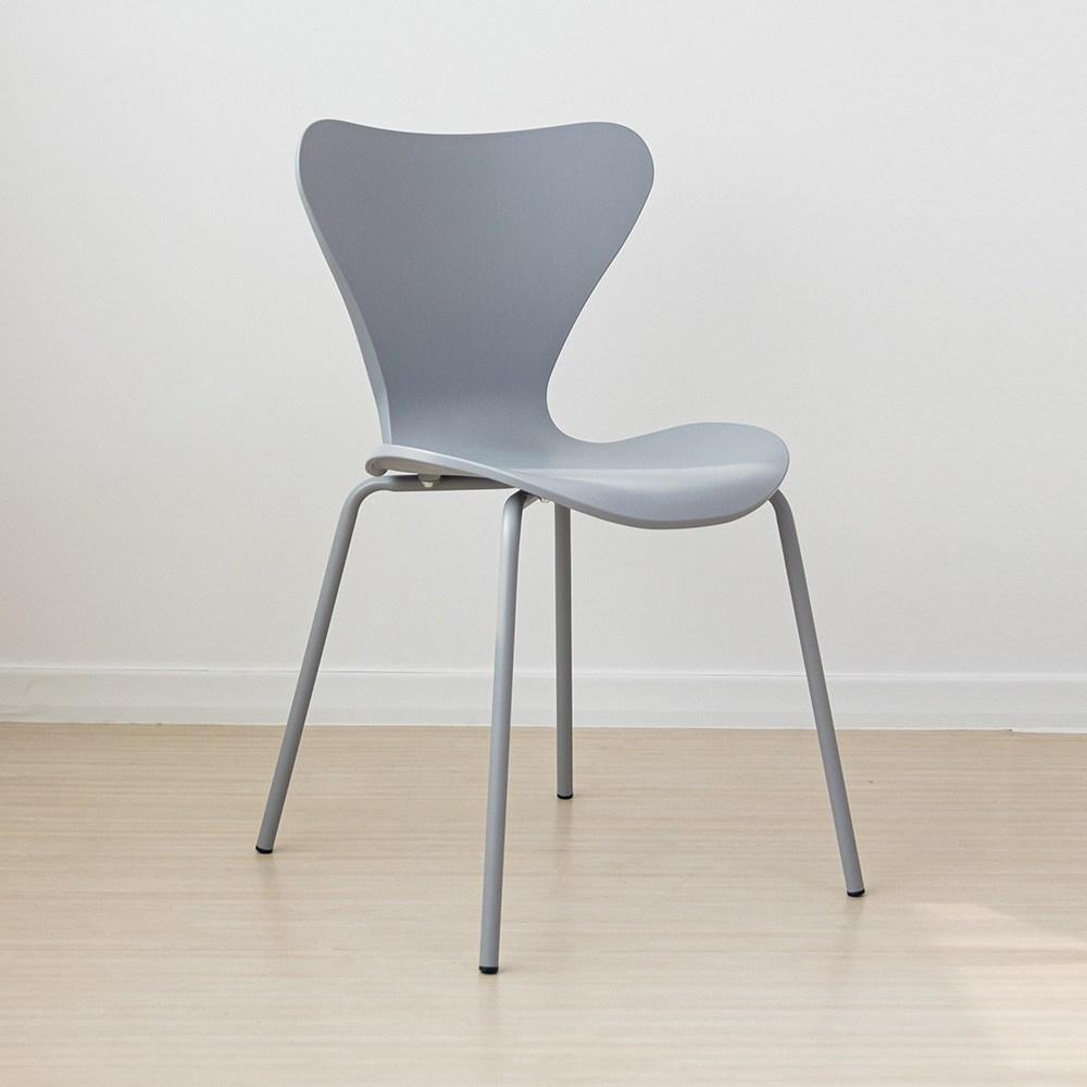 라로퍼니처 웨이브 체어 북유럽스타일 철제 카페 인테리어 의자 인테리어의자, 그레이
