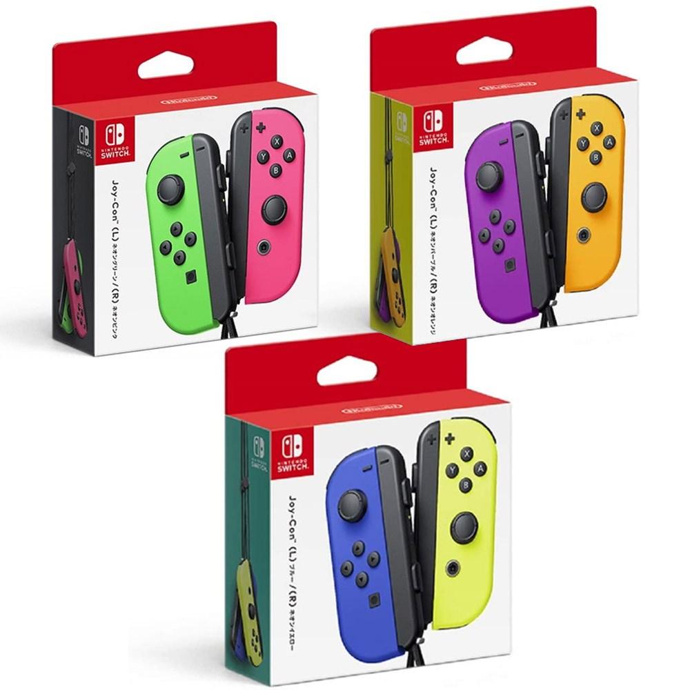 Nintendo 닌텐도스위치 Joy-Con 모음전 3종, 1개, 네온퍼플-네온오렌지(109101247000)