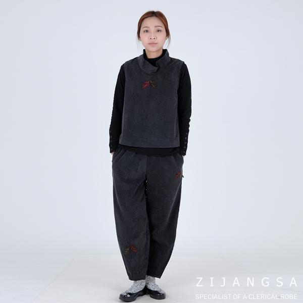 [2053] 여성 골지 터들 조끼 바지 겨울 한복 세트 겨울한복 겨울개량한복 겨울생활한복