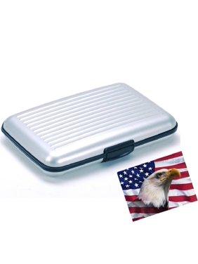 엘릿.알루미늄 지갑 작은 실버 내구성 카드 보호 RFID 블록 카드 홀더 포켓 6개.슬림하고 휴대성이 뛰어나 여행이 용이합니다.