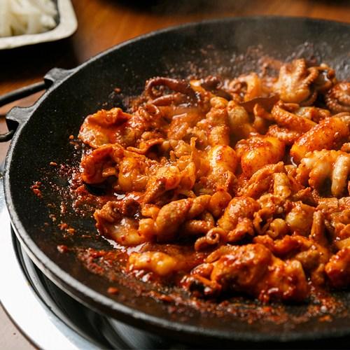 지옥쭈꾸미 650g 매운 양념 쭈꾸미볶음 낙지볶음 낙곱새 맛집, 짱매운