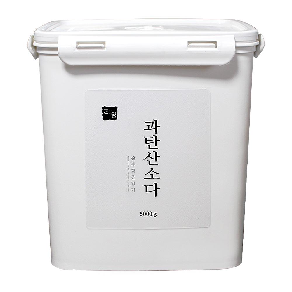 순담 과탄산소다 5kg 산소계표백제 표백제 세정제 세제 바스켓, 1개