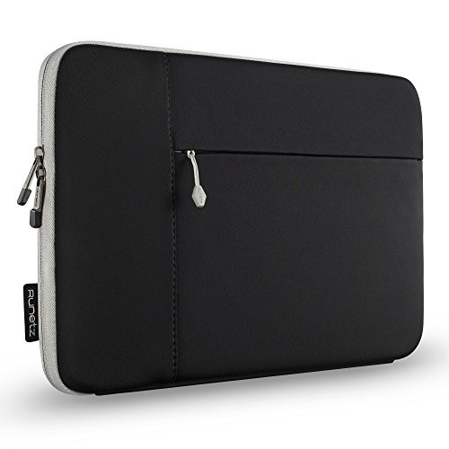노트북 파우치 Runetz - 12-inch BLACK Neoprene Sleeve Case Cover for The New MacBook 12 with Retina Display and Laptop 12 - Black-Gray, Color = Black | Size = 13 inch NEWEST MacBook Pro/Air 2020 2019